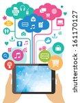 vector mobile app development...   Shutterstock .eps vector #161170127