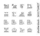 smart farm related icons  thin... | Shutterstock .eps vector #1611716827