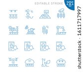 smart farm related icons.... | Shutterstock .eps vector #1611717997