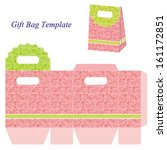 pink gift bag template with... | Shutterstock .eps vector #161172851