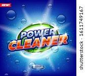 laundry detergent product logo...   Shutterstock .eps vector #1611749167