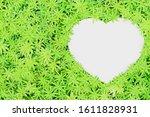 blank paper sheet with heart... | Shutterstock . vector #1611828931