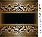 vintage gold background ... | Shutterstock . vector #161183375