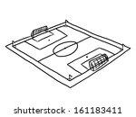 football field   cartoon vector ... | Shutterstock .eps vector #161183411