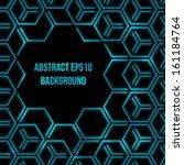 abstract dark blue shining 3d... | Shutterstock .eps vector #161184764