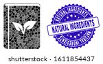 mosaic flora book icon and... | Shutterstock .eps vector #1611854437