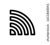 wifi signal icon line vector....