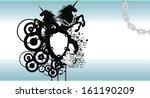 heraldic unicorn coat of arms... | Shutterstock .eps vector #161190209