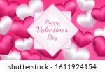 valentines day background with... | Shutterstock .eps vector #1611924154