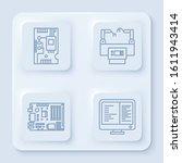 set line electronic computer...   Shutterstock .eps vector #1611943414