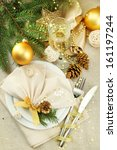beautiful christmas setting ... | Shutterstock . vector #161197244