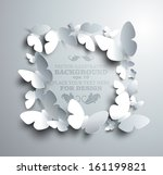square frame made of white... | Shutterstock .eps vector #161199821