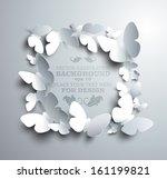 square frame made of white... | Shutterstock .eps vector #161199821