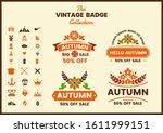vintage retro vector for banner ... | Shutterstock .eps vector #1611999151