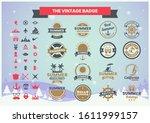 vintage retro vector for banner ... | Shutterstock .eps vector #1611999157