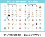 hospital icons set for business ... | Shutterstock .eps vector #1611999997