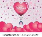 happy valentine's day heart...   Shutterstock .eps vector #1612010821