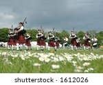 Scottish Pipe Band Marching On...