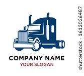 transportation truck logo...   Shutterstock .eps vector #1612026487