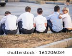 five modern corporate people... | Shutterstock . vector #161206034
