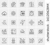 25 universal icons vector... | Shutterstock .eps vector #1612062844