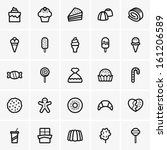 sweets icons | Shutterstock .eps vector #161206589