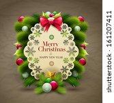 christmas invitation message... | Shutterstock .eps vector #161207411