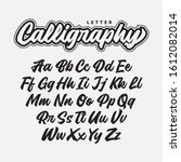 calligraphy alphabet  lettering ...   Shutterstock .eps vector #1612082014