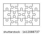 set of fifteen puzzle pieces....   Shutterstock .eps vector #1612088737