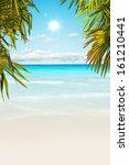 stunning caribbean beach with... | Shutterstock . vector #161210441