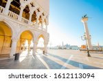 san marco square and doge's... | Shutterstock . vector #1612113094