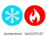 cold and hot vector icon set...   Shutterstock .eps vector #1612137127