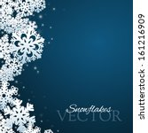Snowflakes Background With...
