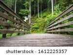 Wooden Bridge In The Summer...