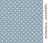 Seamless Polka Dot Blue Patter...
