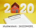 2020 insurance form residence... | Shutterstock . vector #1612244281