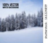 Realistic Blurred Bokeh Winter...