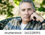 adult man portrait | Shutterstock . vector #161228591
