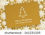 gold christmas card on...   Shutterstock . vector #161231105