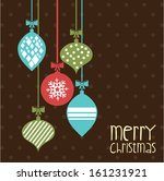 merry christmas  over dotted... | Shutterstock .eps vector #161231921