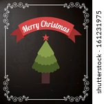 merry christmas  over black... | Shutterstock .eps vector #161231975