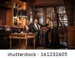 elegant well dressed couple in... | Shutterstock . vector #161232605