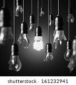 Idea Concept With Broken Bulbs...