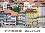 colorful houses of historical... | Shutterstock . vector #161234105