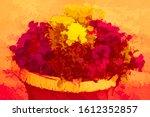Closeup Of Asters  Pansies  An...