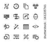 simple set of development... | Shutterstock .eps vector #161235761