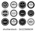 premium quality badges. best... | Shutterstock . vector #1612368634