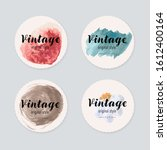 vintage label design with... | Shutterstock .eps vector #1612400164