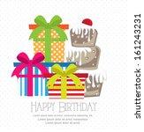 birthday card | Shutterstock .eps vector #161243231
