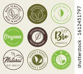 natural and organic food labels ... | Shutterstock .eps vector #1612451797
